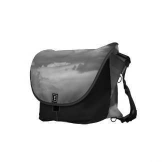 Black And White Cloud 3 Courier Bag