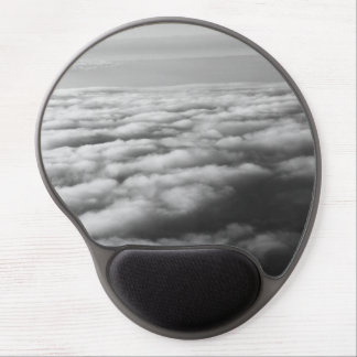 Black and White Clouds at elevation from a plane Gel Mouse Pad