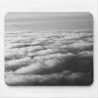 Black and White Clouds at elevation from a plane Mouse Pad