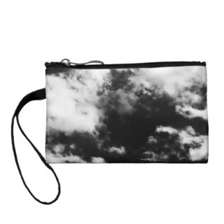 Black and White Clouds Coin Purse