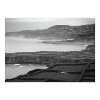 Black and white coastal landscape card