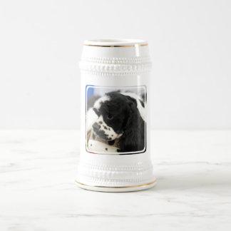 Black and White Cocker Spaniel Beer Stein Coffee Mugs