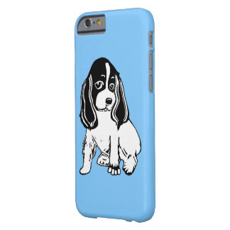 Black and White Cocker Spaniel Blue iPhone 6 Case