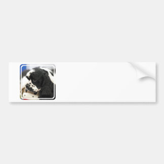 Black and White Cocker Spaniel Bumper Sticker Car Bumper Sticker