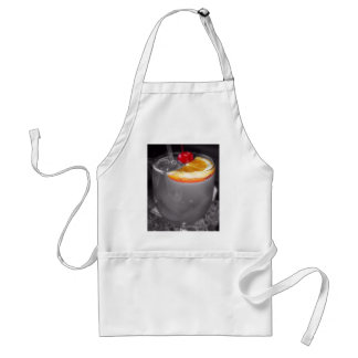 Black and White Cocktail Drink Adult Apron