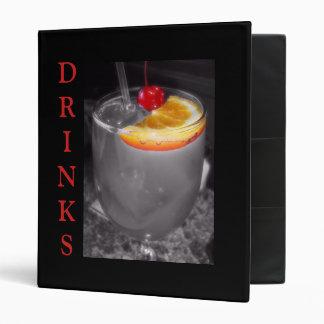 Black and White Cocktail Drink Binder