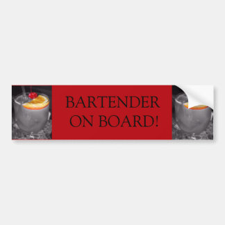 Black and White Cocktail Drink Car Bumper Sticker