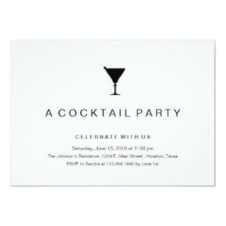 White Cocktail Party Invitations Announcements Zazzle