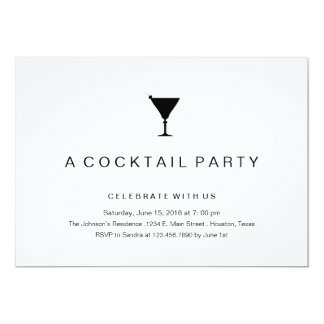 Cocktail Party In Black And White Invitations Announcements Zazzle