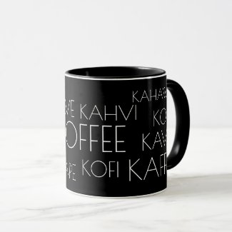 COFFEE in Many Languages Cool Mug