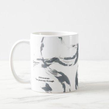 Coffee Themed Black and white coffee mug