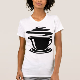 BLACK AND WHITE COFFEE T SHIRT