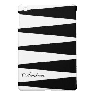 Black and White Color Block iPad Mini Cover