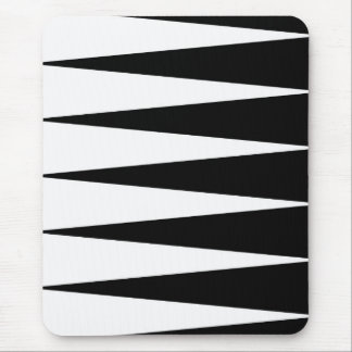 Black and White Color Block Mousepad