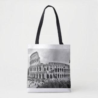 Black and White Colosseum Rome Tote Bag