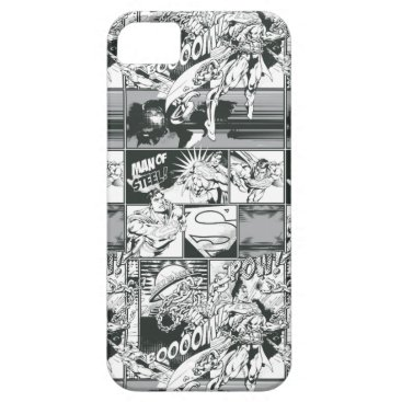 Black and White Comic Pattern iPhone SE/5/5s Case