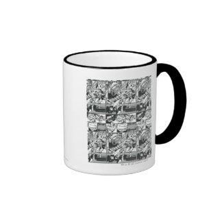 Black and White Comic Pattern Coffee Mug
