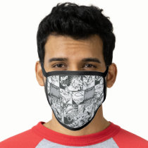 Black and White Comic Pattern Face Mask