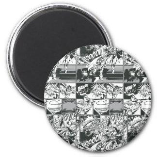 Black and White Comic Pattern Fridge Magnets