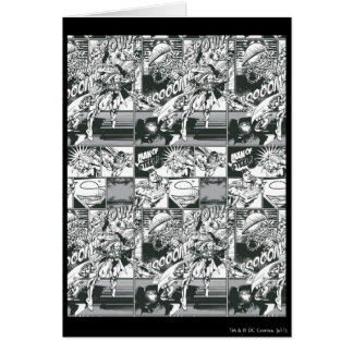 Black and White Comic Pattern Greeting Cards