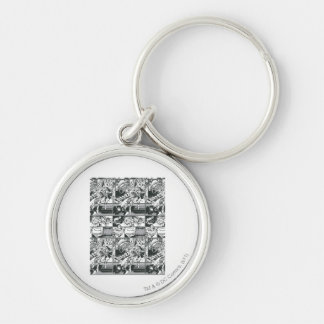 Black and White Comic Pattern Keychains