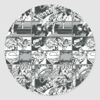 Black and White Comic Pattern Stickers