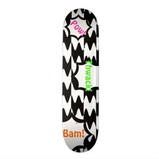 Black and White Comics Pattern Customizable Deck Skate Boards