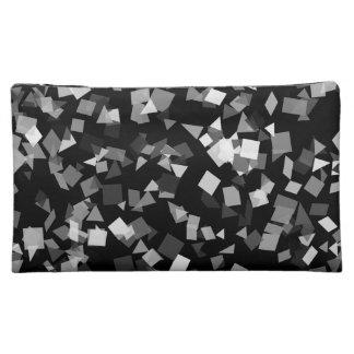 Black and White Confetti Cosmetic Bag