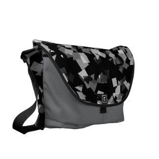 Black and White Confetti Courier Bag