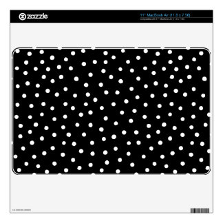 Black And White Confetti Dots Pattern MacBook Air Decal