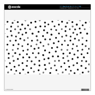 Black And White Confetti Dots Skins For MacBook