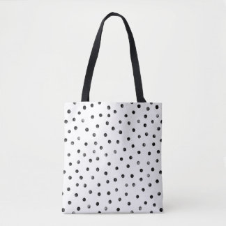 Black And White Confetti Dots Tote Bag