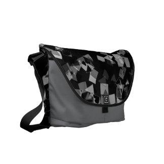 Black and White Confetti Messenger Bag