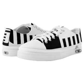 Black and White Confined Lo-Tops
