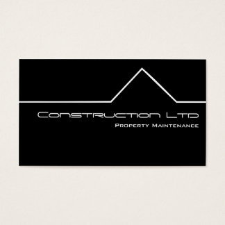 Black And White Construction Business Card
