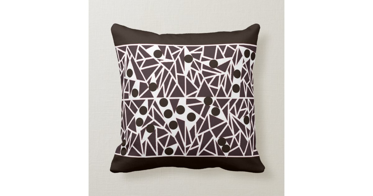 Modern White Pillow : Black and White contemporary ART pillow Zazzle