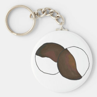 Black-and-White Cookie Key Chain