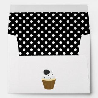 Black and White Cookies Cupcake Envelope