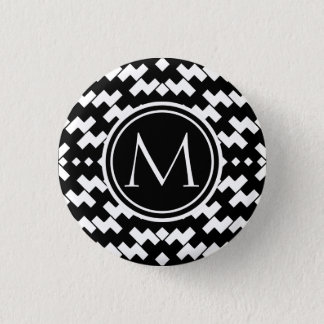 Black and White Cool Chevron Button
