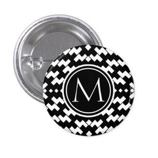 Black and White Cool Chevron Button