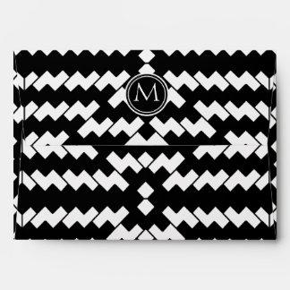Black and White Cool Chevron Envelopes