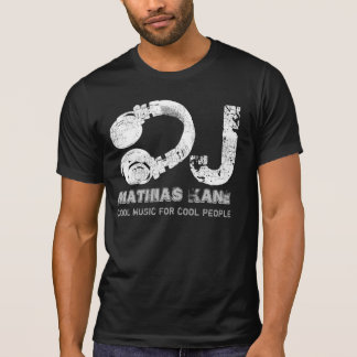 black and white cool music DJ T Shirts