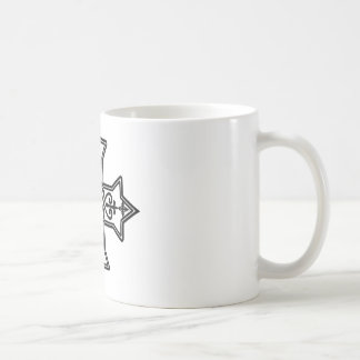 Black and White Coptic Cross Coffee Mug