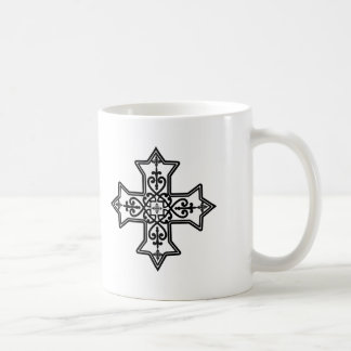 Black and White Coptic Cross Coffee Mug