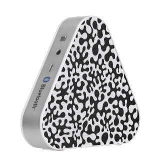 Black and White Coral Blots Bluetooth Speaker