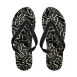 Black and White Coral Flip Flops