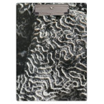 Black and White Coral I Abstract Nature Photo Clipboard