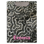 Black and White Coral II Abstract Nature Photo Clipboard