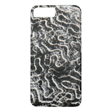 Beach Themed Black and White Coral II Abstract Nature Photo iPhone 7 Plus Case
