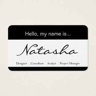 Black and White Corporate Name Tag - Business Card